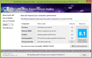 ChrisPC Win Experience Index